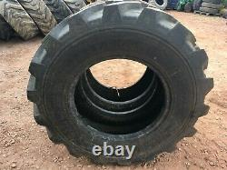 2x ALLIANCE 400 80 24 telehandler tyres 15.5 80 24 jcb loadall
