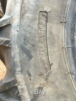 2x BKT 15.5 80 24 matbro JCB telehandler tyres