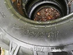 2x BKT 400/80-24 telehandler tyres 15.5/80-24 jcb loadall