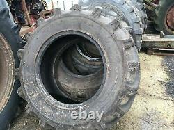 2x JCB 15.5/80-24 telehandler tyres jcb loadall
