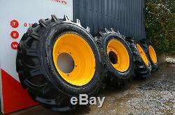 4 x JCB Sitemaster 15.5/80-24 Wheel and Tyres for TELEHANDLER £1850+VAT