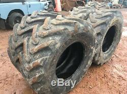 4x BKT 440 80 24 matbro JCB loadal manitou telehandler tyres cat 16.9 80 24