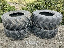 4x Michelin 460/70 R24 Tyres / JCB Telehandler Wheels