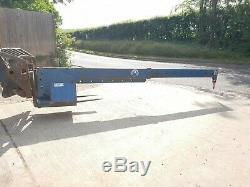 5 Ton Conquip Forklift Crane Extending Lifting Jib Hook Telehandler JCB £750+vat