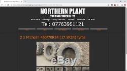 #B0927A 2 x Michelin XMCL 460/70R24 (17.5R24) tyres Telehandler JCB Matbro Merlo