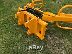 Bale Grab/squeeze With Jcb Compact Brackets Telehandler Teleporter