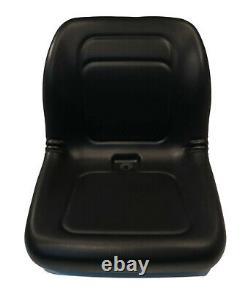 Black High Back Seat for Genie GTH-844, GTH-1056 Telehandlers & JCB 930 Forklift