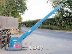 Conquip Forklift Crane Extending Lifting Jib Hook Telehandler Cat JCB £675+vat