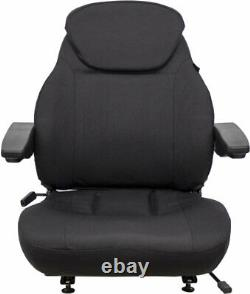 Fits JCB Telehandler Seat Assembly Fits Various Models Black Cloth