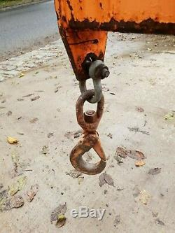 Forklift Extending Crane Lifting Jib Hook Telehandler Manitou Cat JCB £495+vat