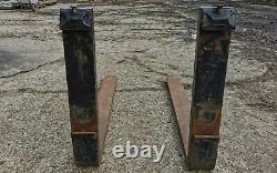 Genuine JCB Heavy Duty Pallet Forks telehandler Pin and Cone John deere forklift