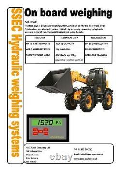 Hydraulic Onboard Weighing System For Jcb Tlt30d Telehandler Liftweigh Choice