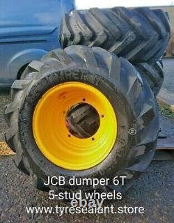 JCB 5-stud & 6T dumper telehandler loader wheels and tyres x4
