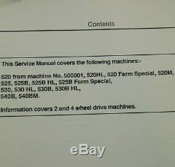 JCB LOADALL 520 525 530 540 TELEHANDLER Forklift Service repair shop Manual book