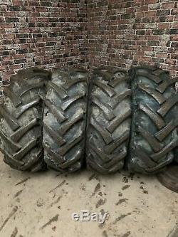 JCB TELEHANDLER LOADALL WHEELS & TYRES X4 And Spare Tyre. 5 Stud 24 15.5 80 24