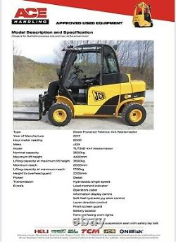 JCB TLT35D 4x4 4WD Teletruk Hire-£99.99pw Buy-£28,995 HP-£144.80pw VAT Deposit