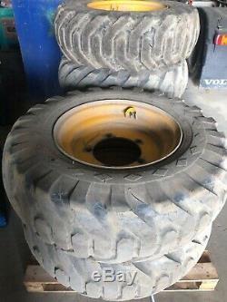 JCB Telehandler Teleporter GKN 25 x 1200 Wheels + GoodYear 15.5-25 Tyres