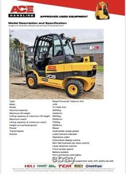 JCB Teletruk TLT35D 4x4 Hire £99.99pw Buy £20,995.00 or £104.85 With No Deposit