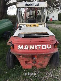 MANITOU ROUGH TERRAIN Forklift TELEHANDLER Diesel Not Jcb Merlo