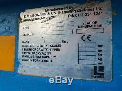 One Ton Leonard Forklift Crane Lifting Jib Hook Telehandler Manitou JCB £285+vat