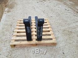 Pair of Pallet Forks to Suit Telehandler JCB Manitou Merlo Forklift £200 + vat