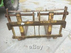 Pallet tines with frame, sanderson brackets jcb telehandler forklift
