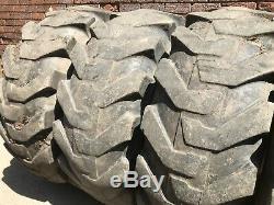 Solideal 17.5L-24 Tyres on 5 Stud JCB Rims Telehandler/Loader