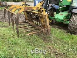 Telehandler Muck Grab, Jcb, Loader, Tractor, Muck Fork, Cone And Pin