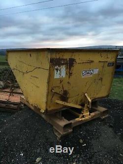 Tipping Skip To Suit Telehandler Forklift Loadall Building Site JCB