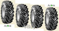 Tyre Set BKT AS504 12 Ply Size 15.5 / 80 -24 Tractor JCB, Loadall, Telehandler