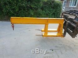Yellow Forklift Crane Lifting Jib Hook Telehandler CAT Manitou JCB £300+vat